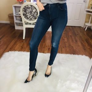 Level 99 High Rise Skinny Tanya Dark Wash Jeans 28